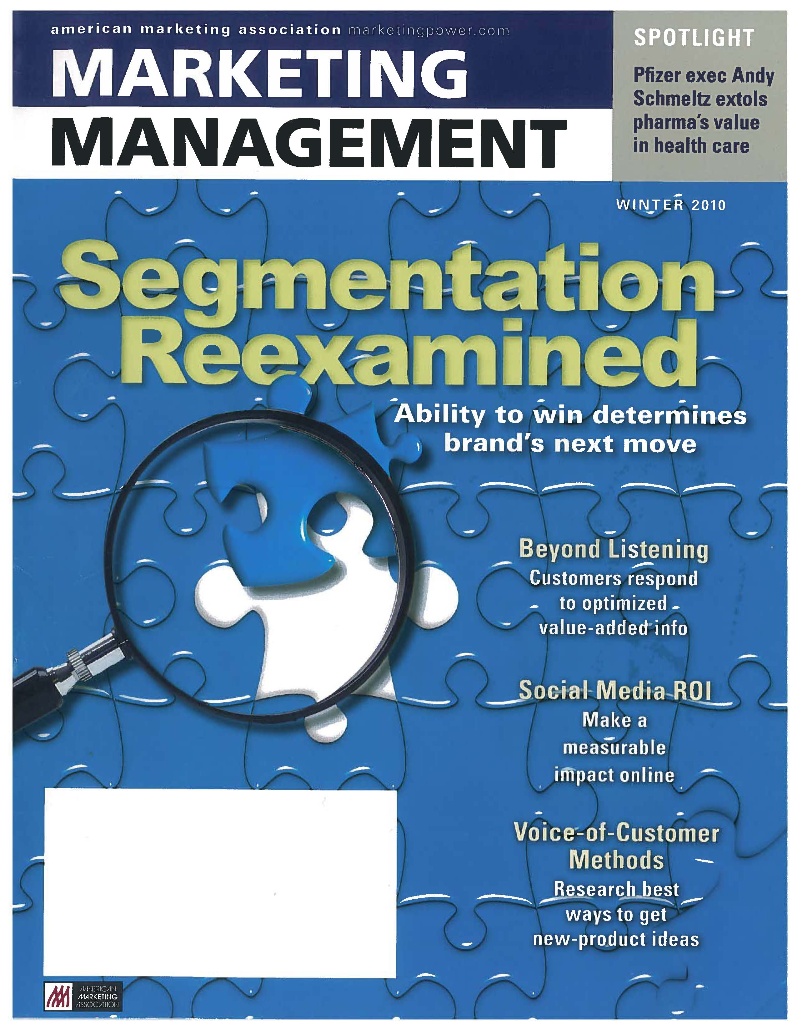 marketing management articles 2016-9-8 in addition, he has published more than one hundred articles in leading journals, in-  in the areas of global consumer marketing and brand management dr.